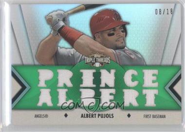 2012 Topps Triple Threads - Relics - Emerald #TTR-133 - Albert Pujols /18