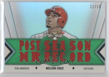 2012 Topps Triple Threads - Relics - Emerald #TTR-47 - Nelson Cruz /18