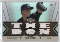 Zack Greinke #/27