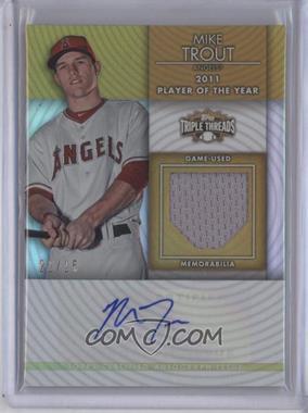 2012 Topps Triple Threads - Unity Autograph Relics - Gold #TTUAR-10 - Mike Trout /25