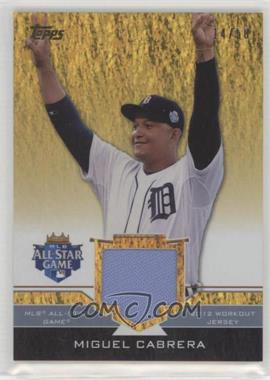 2012 Topps Update Series - All-Star Stitches - Gold #AS-MIC - Miguel Cabrera /50