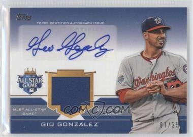 2012 Topps Update Series - All-Star Stitches Autographed Relics #ASAR-GG - Gio Gonzalez /25