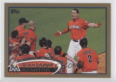 2012 Topps Update Series - [Base] - Gold #US154 - Giancarlo Stanton /2012
