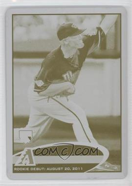 2012 Topps Update Series - [Base] - Printing Plate Yellow #US5 - Wade Miley /1