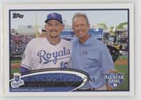 Billy Butler (with George Brett)
