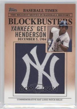 2012 Topps Update Series - Blockbusters Hat Logo Patch #BP-11 - Rickey Henderson
