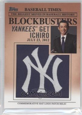2012 Topps Update Series - Blockbusters Hat Logo Patch #BP-23 - Ichiro Suzuki