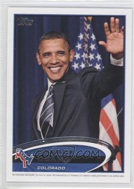 2012 Topps Update Series - Presidential Predictor Barack Obama #PPO-6 - Barack Obama