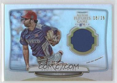 2013 Bowman - 2012 SiriusXM All-Star Futures Game Relics #FGR-JR - Julio Rodriguez /25