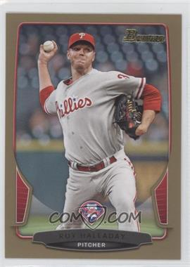 2013 Bowman - [Base] - Gold Border #102 - Roy Halladay
