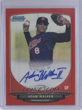 2013 Bowman - Chrome Prospects Autographs - Red Refractor #BCA-AW - Adam Walker /5