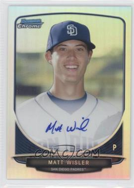 2013 Bowman - Chrome Prospects Autographs - Refractor #BCA-MWI - Matt Wisler /500
