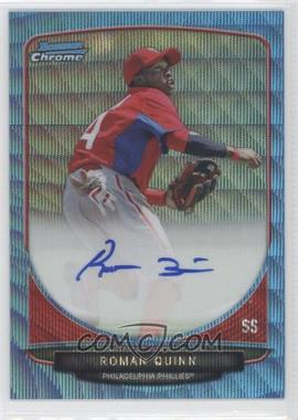2013 Bowman - Chrome Prospects Autographs - Wrapper Redemption Blue Wave Refractor #BCP-RQ - Roman Quinn /50