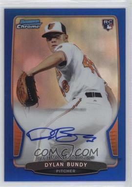 2013 Bowman - Chrome Rookie Autographs - Blue Refractor #ACR-DB - Dylan Bundy /250