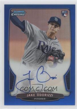 2013 Bowman - Chrome Rookie Autographs - Blue Refractor #ACR-JO - Jake Odorizzi /250