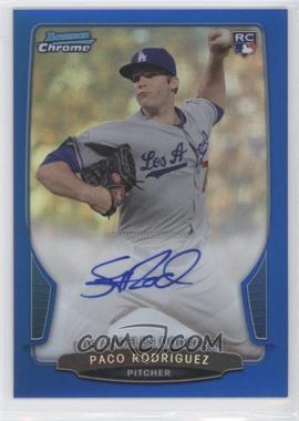 2013 Bowman - Chrome Rookie Autographs - Blue Refractor #ACR-PR - Paco Rodriguez /250