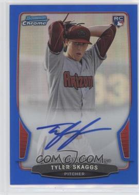 2013 Bowman - Chrome Rookie Autographs - Blue Refractor #ACR-TS - Tyler Skaggs /250
