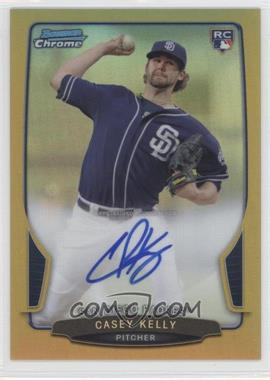 2013 Bowman - Chrome Rookie Autographs - Gold Refractor #ACR-CK - Casey Kelly /50