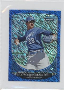 2013 Bowman - Cream of the Crop Chrome Mini Refractor - Blue Wave #CC-KCR3 - Adalberto Mondesi /250