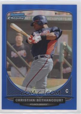 2013 Bowman - Prospects Chrome - Blue Refractor #BCP72 - Christian Bethancourt /250