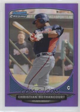 2013 Bowman - Prospects Chrome - Purple Refractor #BCP72 - Christian Bethancourt /199