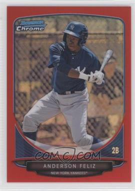 2013 Bowman - Prospects Chrome - Red Refractor #BCP69 - Anderson Feliz /5