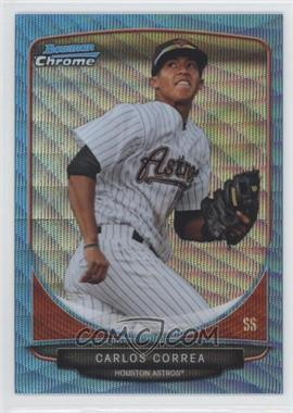 2013 Bowman - Prospects Chrome - Wrapper Redemption Blue Wave Refractor #BCP100 - Carlos Correa
