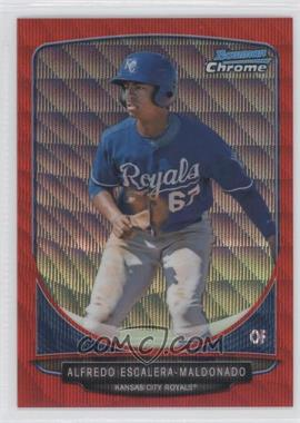 2013 Bowman - Prospects Chrome - Wrapper Redemption Red Wave Refractor #BCP107 - Alfredo Escalera-Maldonado /25