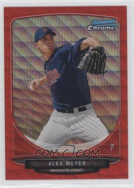 2013 Bowman - Prospects Chrome - Wrapper Redemption Red Wave Refractor #BCP80 - Alex Meyer /25