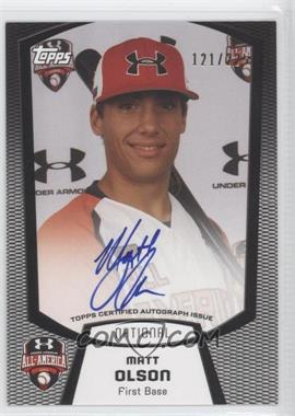 2013 Bowman - Under Armour All-American Certified Autographs #UA-MO - Matt Olson /225