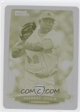 2013 Bowman Chrome - [Base] - Printing Plate Yellow #200 - Miguel Cabrera /1