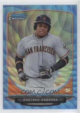 2013 Bowman Chrome - Prospects - Wrapper Redemption Blue Wave Refractor #BCP136 - Gustavo Cabrera
