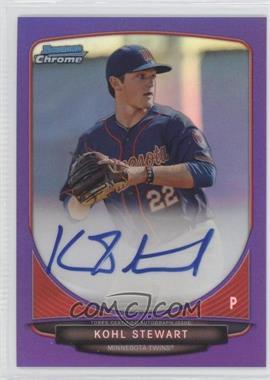 2013 Bowman Draft Picks & Prospects - Chrome Prospect Autographs - Purple Refractor #BCA-KS - Kohl Stewart /10