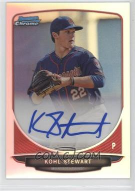 2013 Bowman Draft Picks & Prospects - Chrome Prospect Autographs - Refractor #BCA-KS - Kohl Stewart
