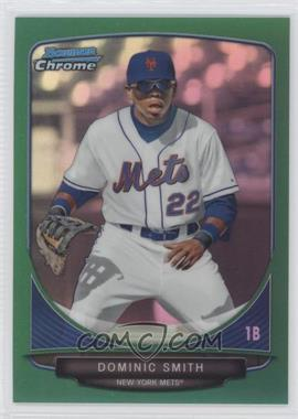 2013 Bowman Draft Picks & Prospects - Draft Picks Chrome - Green Refractor #BDPP1 - Dominic Smith /75