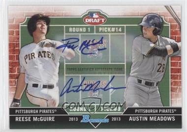 2013 Bowman Draft Picks & Prospects - Dual Draftee - Autographs [Autographed] #DD-MM - Reese McGuire, Austin Meadows /25