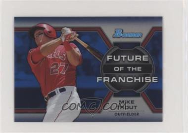 2013 Bowman Draft Picks & Prospects - Future of the Franchise - Blue Refractors #FF-MT - Mike Trout /250