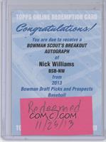 Nick Williams /24 [REDEMPTION Being Redeemed]