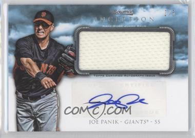 2013 Bowman Inception - Autographed Jumbo Relics - Blue #AJR-JPA - Joe Panik /5