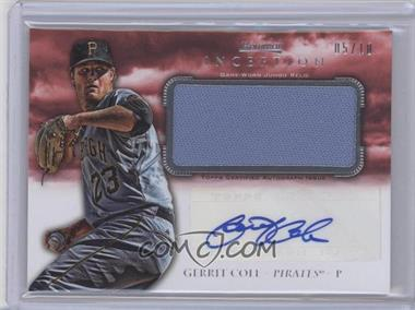 2013 Bowman Inception - Autographed Jumbo Relics - Red #AJR-GC - Gerrit Cole /10
