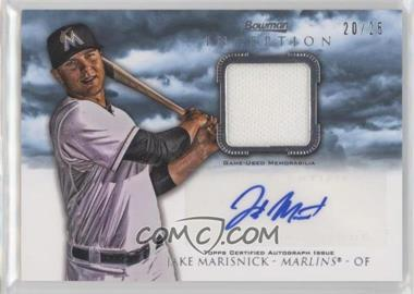 2013 Bowman Inception - Autographed Relics - Blue #AR-JM - Jake Marisnick /25