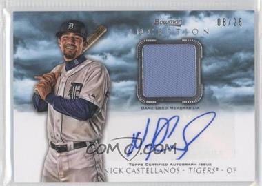 2013 Bowman Inception - Autographed Relics - Blue #AR-NC - Nick Castellanos /25