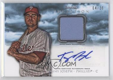 2013 Bowman Inception - Autographed Relics - Blue #AR-TJ - Tommy Joseph /25