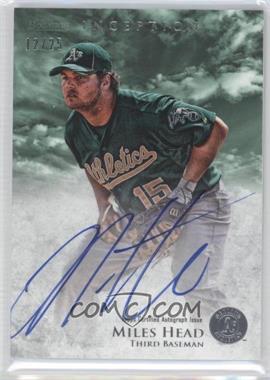 2013 Bowman Inception - Prospect Autographs - Green #PA-MH - Miles Head /25