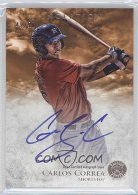 2013 Bowman Inception - Prospect Autographs - Orange #PA-CC - Carlos Correa /50