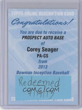 2013 Bowman Inception - Prospect Autographs #PA-CS - Corey Seager [REDEMPTION Being Redeemed]