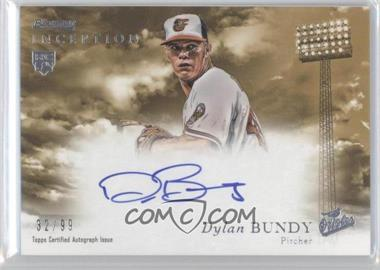 2013 Bowman Inception - Rookie Autographs - Gold #RA-DB - Dylan Bundy /99