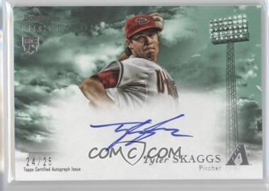 2013 Bowman Inception - Rookie Autographs - Green #RA-TS - Tyler Skaggs /25