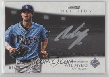 2013 Bowman Inception - Silver Signings Autographs - [Autographed] #SS-WM - Wil Myers /25