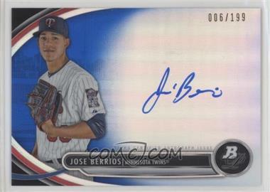 2013 Bowman Platinum - Autographed Prospects - Blue Refractor #BPAP-JB - Jose Berrios /199